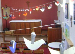 All Saints Pentecost Doves in Lady Chapel