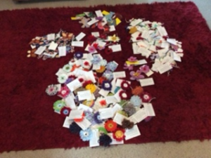 Picture of 155 knitted items