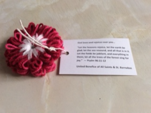 Picture of a knitted flower