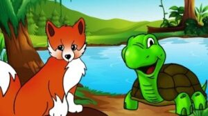 Picture of fox and turtle